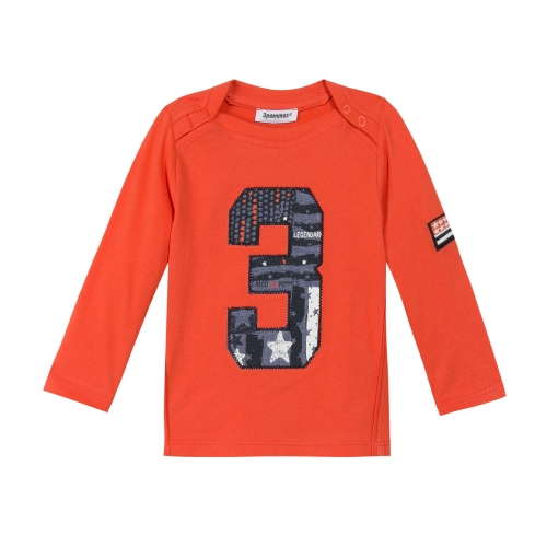 Long Sleeves Orange T-Shirt