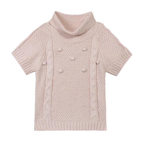 Turtleneck short Sleeves sweater