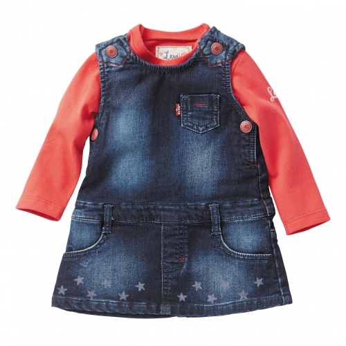 Levis Red top Baby Girls Pinafore Dress Levis