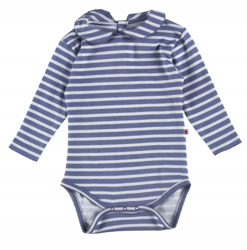 Long Sleeve unisex Marlin Stripe Baby Body