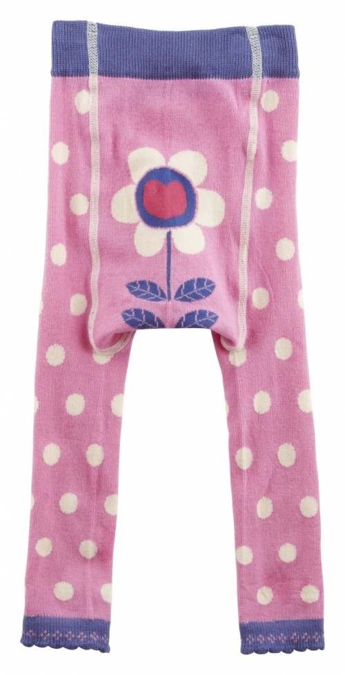 Pink Polka Footless Tights-Daisy, Designer baby clothes